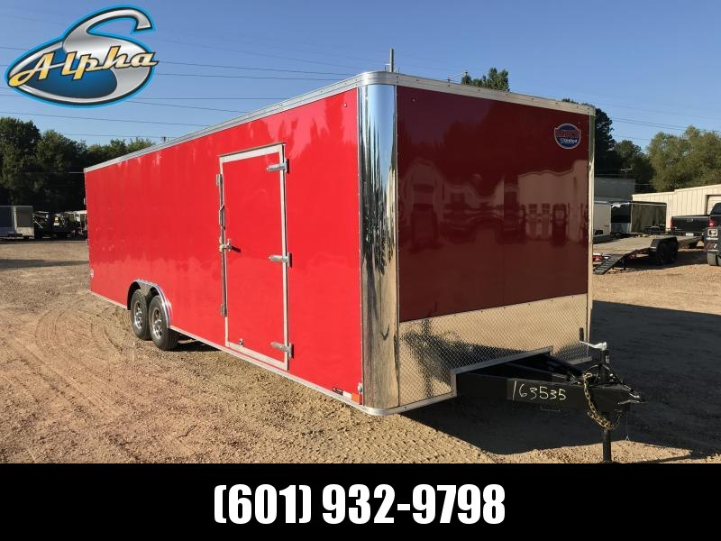New 2019 United Trailer 8.5 x 28 Tandem Axle Enclosed Car Hauler