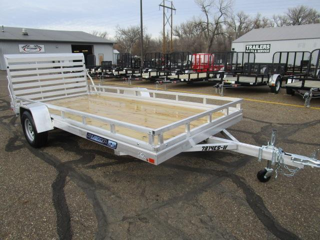 2018 Aluma 7814 Edge Series Wood Deck Utility Trailer