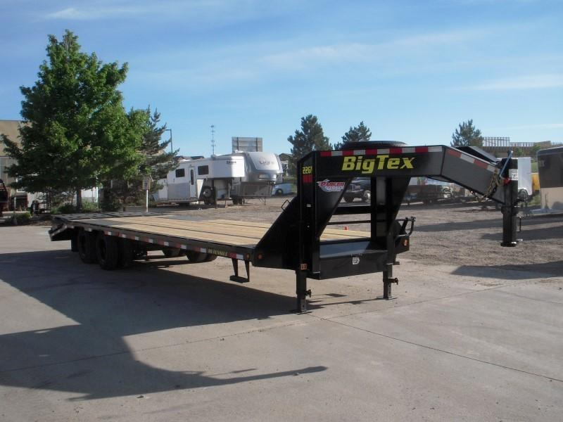 2019 Big Tex Trailers 22GN-25BK+5MR Flatbed Trailer