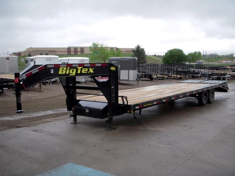 2019 Big Tex Trailers 14GN-25BK+5MR Flatbed Trailer