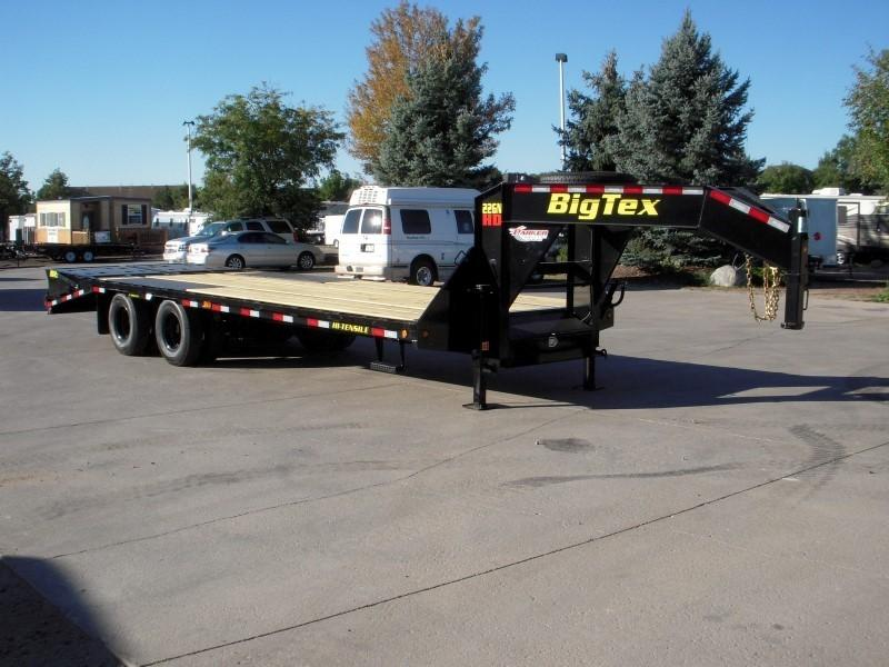 2019 Big Tex Trailers 22GN-20BK+5MR Flatbed Trailer
