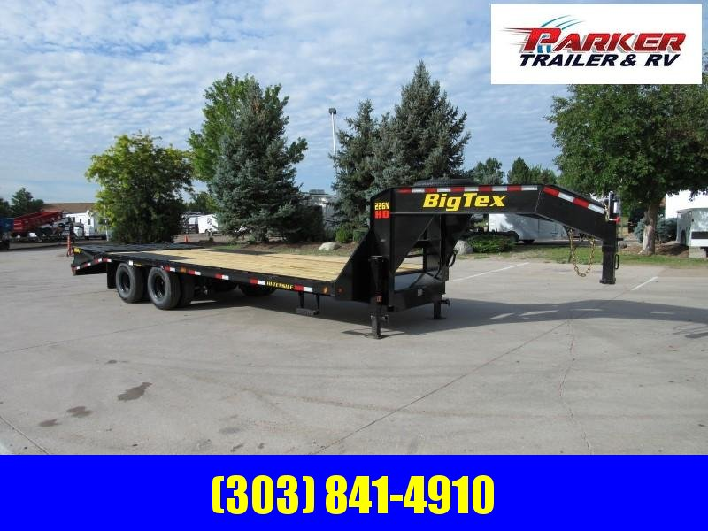 2020 Big Tex Trailers 22GN-20BK+5MR Flatbed Trailer
