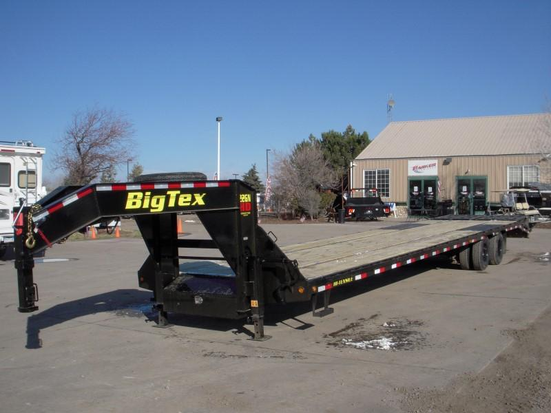 2019 Big Tex Trailers 22GN-35BK+5MR Flatbed Trailer