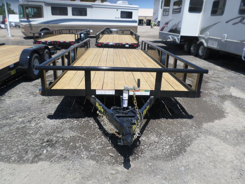 2017 Big Tex Trailers 70PI-18XBK Flatbed Trailer