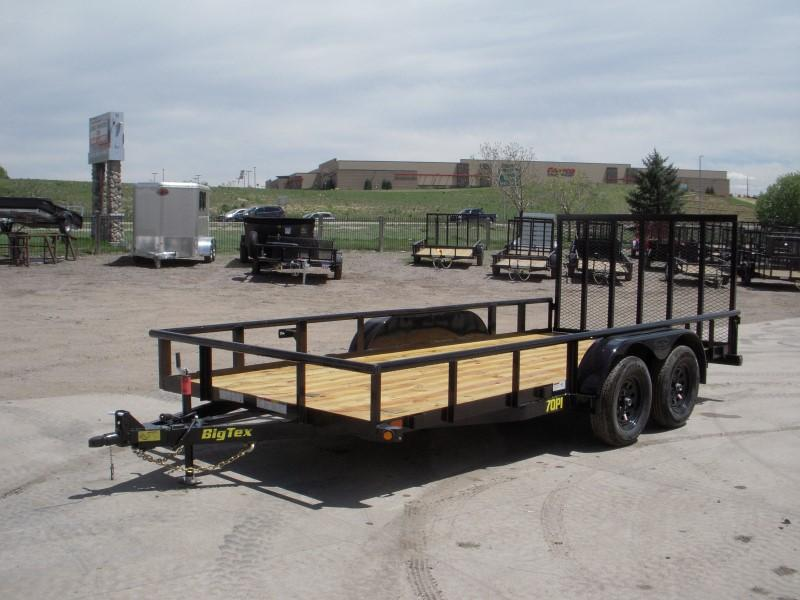 2018 Big Tex Trailers 70PI-16XBK4RG Flatbed Trailer
