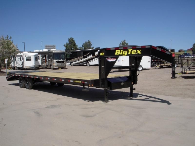 2018 Big Tex Trailers 14GN-25BK+5MR Flatbed Trailer