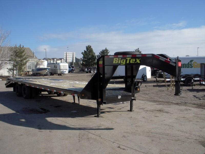 2018 Big Tex Trailers 22GN-25BK+5MR Flatbed Trailer