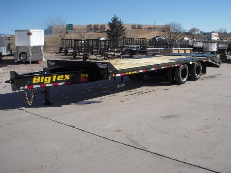 2019 Big Tex Trailers 22PH-20BK+5MR Flatbed Trailer