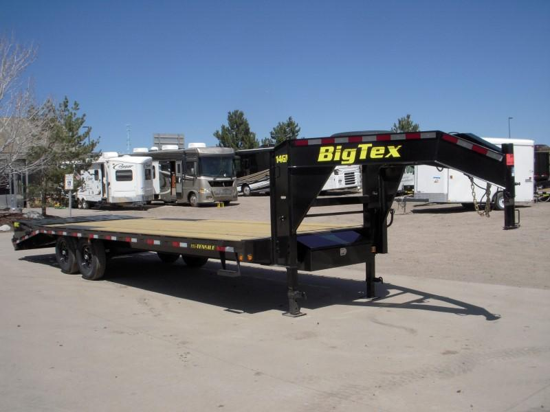 2018 Big Tex Trailers 14GN-20BK+5MR Flatbed Trailer