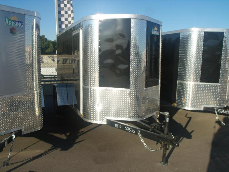 "Enclosed Trailer 5 X 10 Ramp 5' 6"" Interior ALL  Tube Construction"