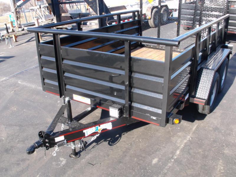 Utility Trailer Hi Wall 3' Sides 77 X 10 Ramp 7000 GVW Brakes