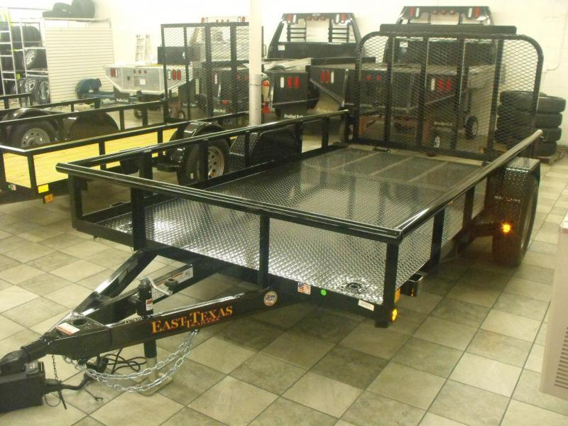 Utility Trailer 77 X 12 Metal Deck Ramp LED Lights Premium Trailer