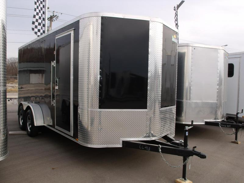 "Enclosed Trailer 7 X 16 Ramp 6' 6"" Interior 7000 GVW ALL TUBE Construction (Cash Savings Option)"