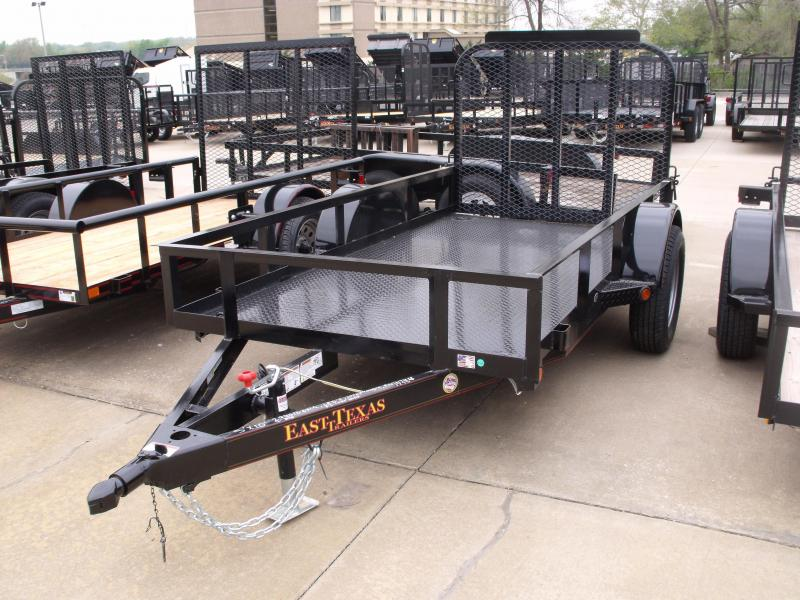Utility Trailer METAL DECK  5 X 10 Gate Premium Trailer LED's 2990 Axle