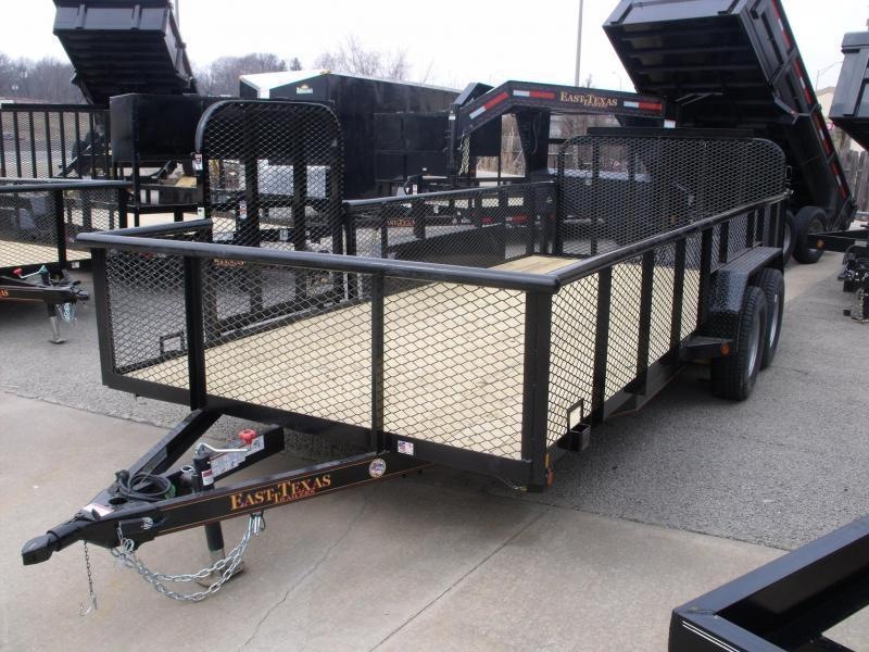 Hi Wall Landscape Trailer 83 X 16 Side Load Rear Load