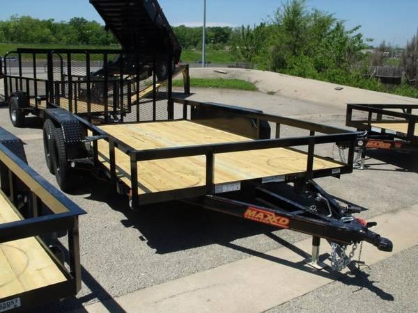 Utility Trailer ATV Trailer 77  X 16 Dove 4 WL Brakes 7000 GVW