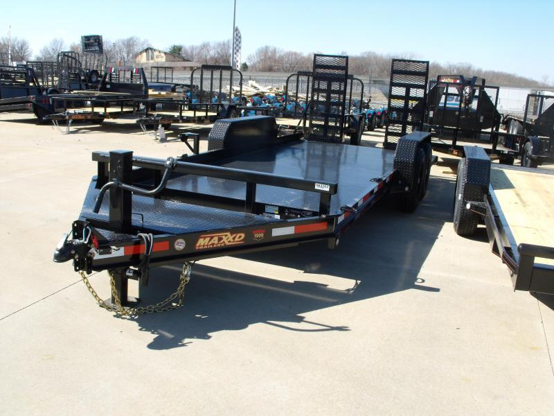 "Skid Steer Trailer 81"" X 18 Non Slip Combo Ramps 14000 GVW ALL STEEL 1/8"" Diamond Plate Steel"