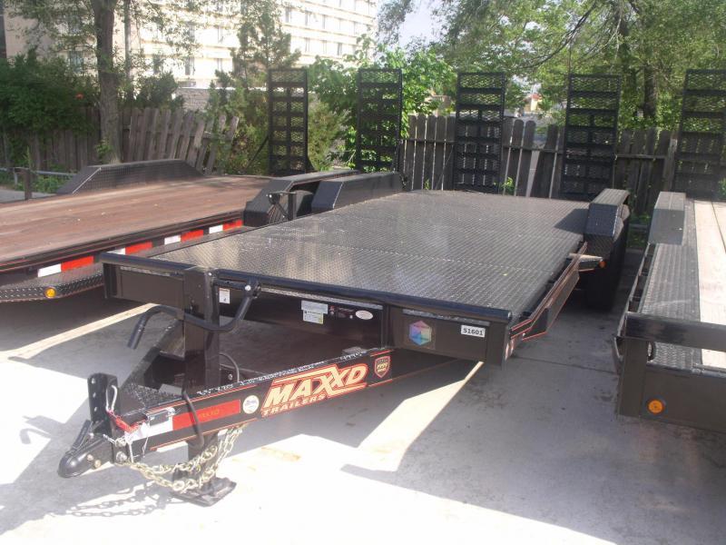 Car Hauler Equipment Trailer 83 X 20 Metal Deck 14K Combo Ramps