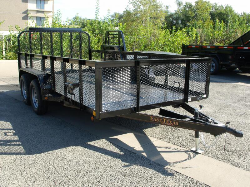Hi Wall Utility Trailer 83 X 14  High  Wall 7000 GVW  4 WL Brakes METAL DECK  Electric Brakes 3500 #  Axle