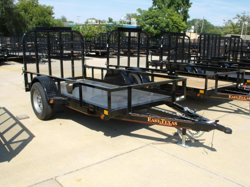 Utility Trailer 5 X 10 Ramp 2990 Axle METAL DECK Spring Assisted Tubular Gate (LED's)