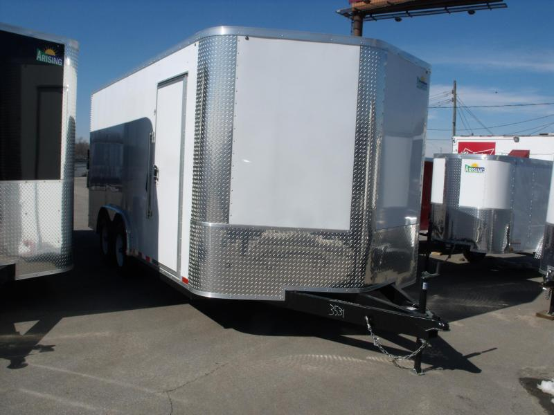 Enclosed Trailer 8.5 X 16 Ramp   7 ' Interior 9990 GVW ALL TUBE Construction  4 Wheel Brakes