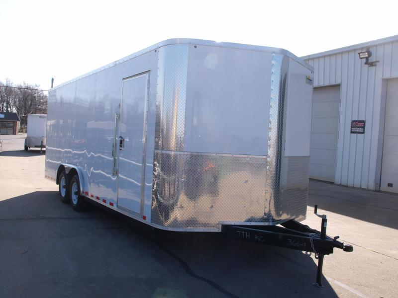 Enclosed Trailer 8.5 X 20 Ramp   7 ' Interior 10400 GVW ALL TUBE Construction  4 Wheel Brakes