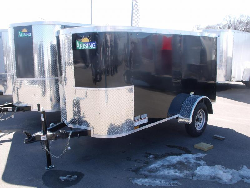 Enclosed Trailer 4 X 8 Barn Doors 2000# Axle BLACK  IN COLOR