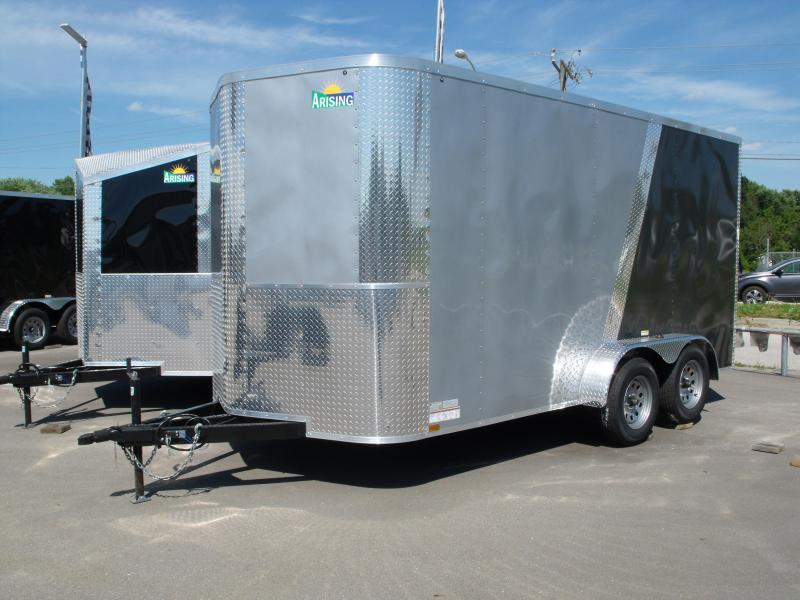 Enclosed Trailer 7 X 14 Ramp 7' Interior Height Medium Silver Front/Charcoal Rear ALL Tube Construction
