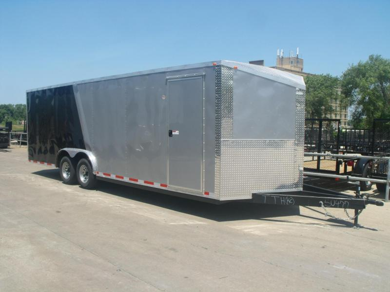 Enclosed Trailer  8.5 X 24 V Nose 10K  ALL Tube Construction