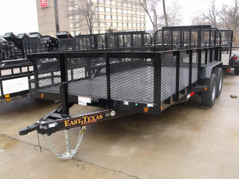 High-Wall Trailer Trailer 83 X 16  HD Ramps  12000 GVW ALL Metal Trailer HD Gate