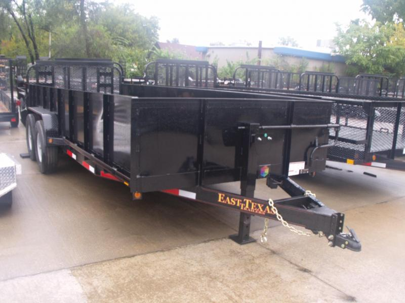 High-Wall Trailer Landscape Trailer 83 X 20 ALL STEEL TRAILER 12000 GVW Heavy Duty Tube Ramp