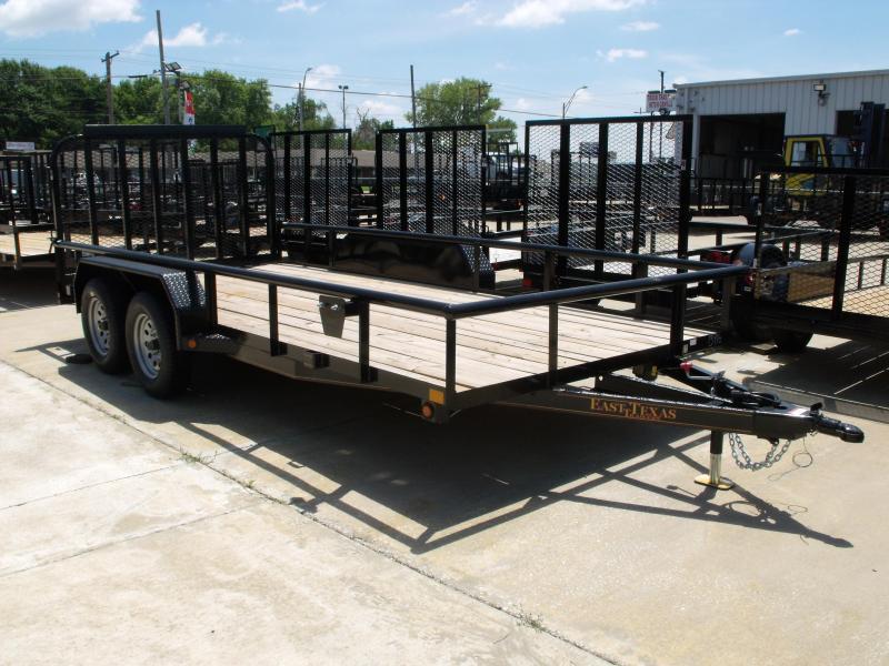83 X 16 Utility Trailer Flat Deck Heavy Duty Tube Gate  4 WL Brakes 7000 GVW