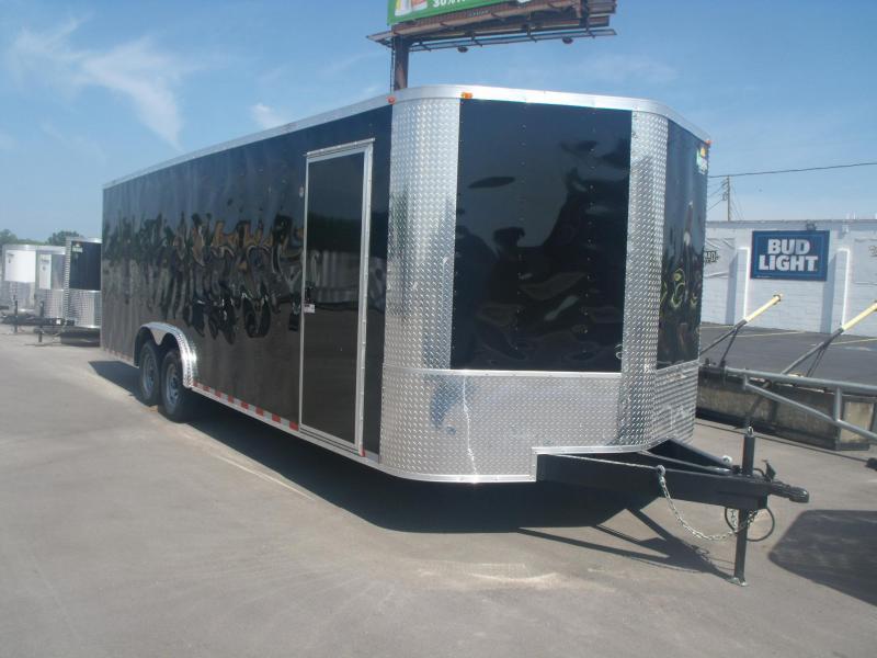 Enclosed Trailer 8.5 X 24 V Nose 9990 GVW All Tube Construction