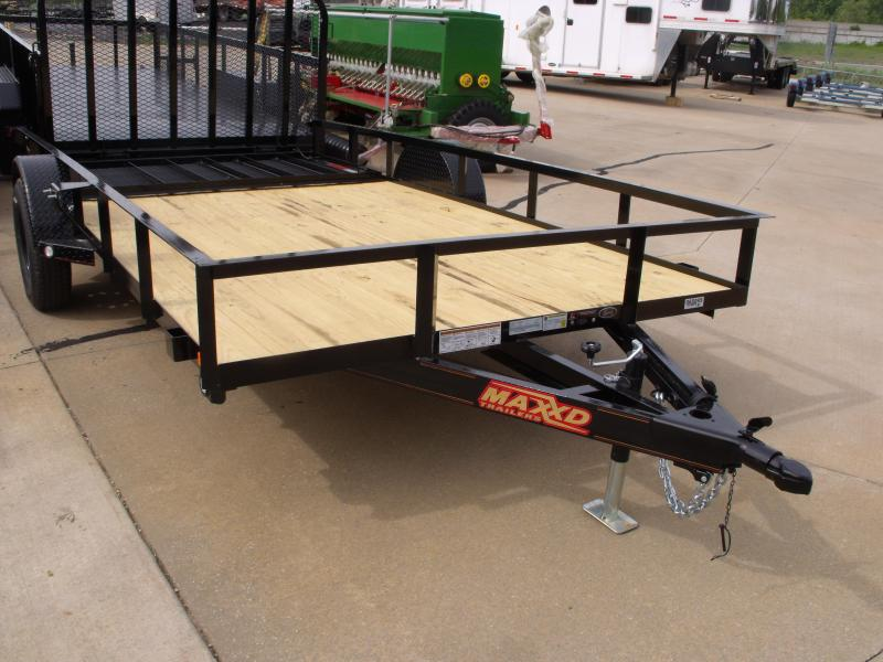 Utility Trailer ATV Trailer 83 X 14  Front And Rear Folding Spring Assisted Gate 2990 Axle