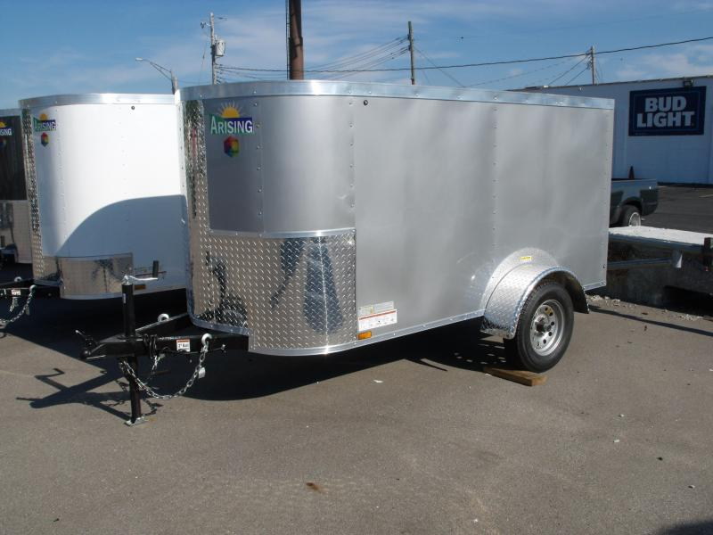 Enclosed Trailer 4 X 8 Barn Door   Silver Mist  In Color 2000 # Axle ALL Tube Construction