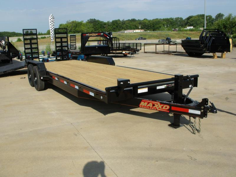 Car Hauler 83 X 24 Dove 14000 GVW Combo Ramps Covered With Number 6 HD Mesh