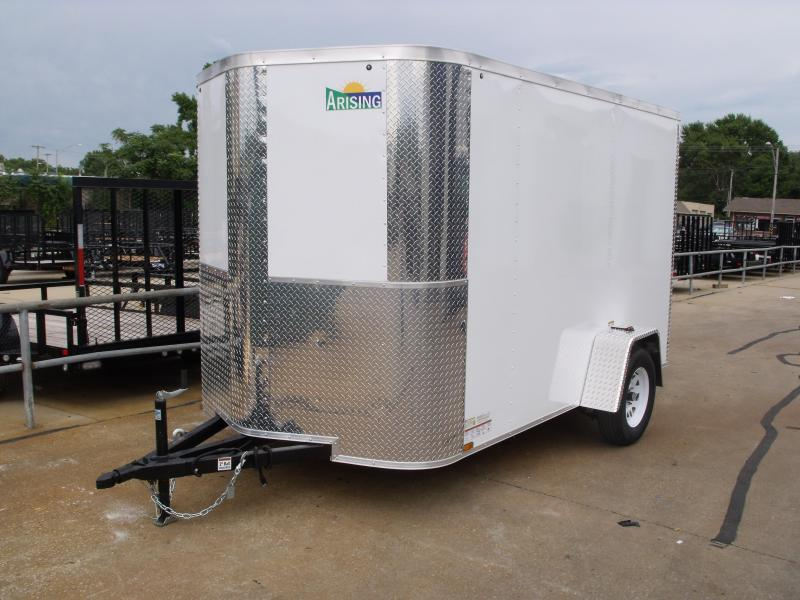 Enclosed Trailer 6 X 10 Ramp Color White   All Tube Construction