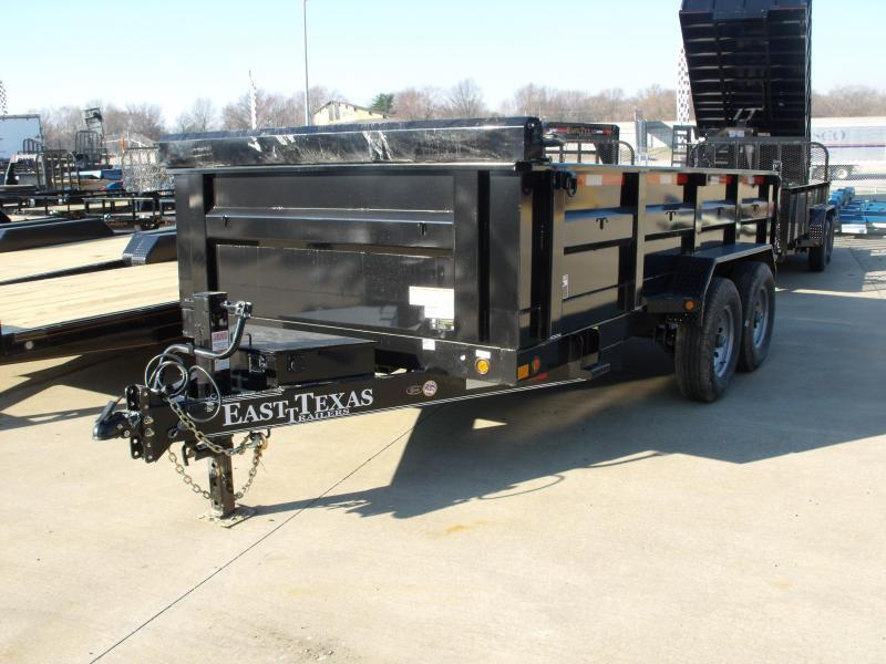 Dump Trailer 83 X 14 Spreader Gate 14000 GVW  16K Hoist