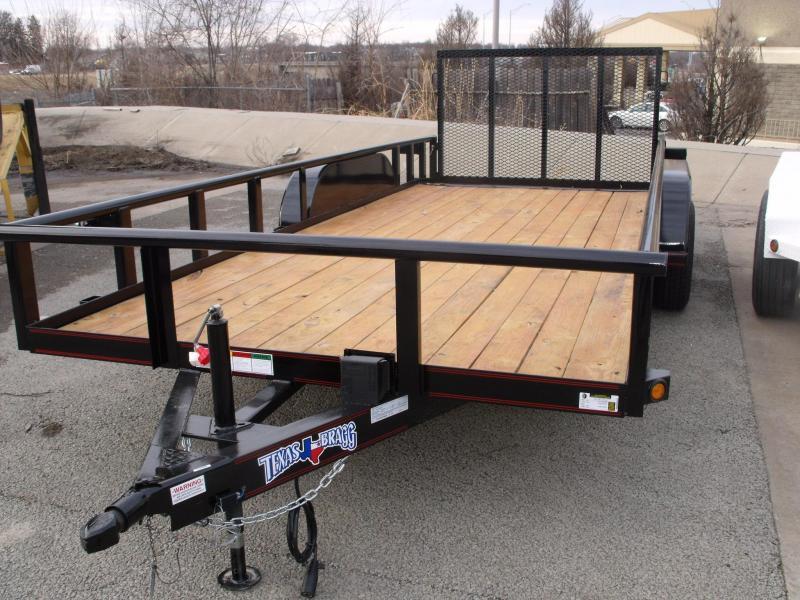 Utility Trailer Pipe Rail Tio  83 X 18 Dove  7000 GVW 4 WL Brakes