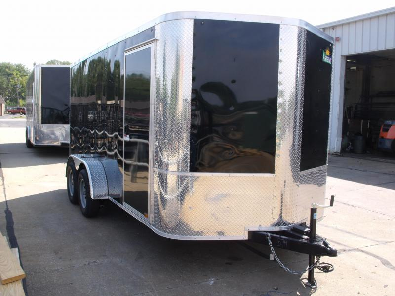 Enclosed Trailer 7 X 14  Ramp BLACK   In Color 7000 GVW  7' Height