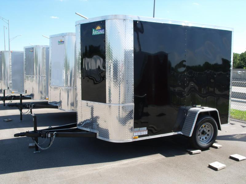 "Enclosed Trailer 6 X 8 Ramp Black In Color ALL Tube Construction 6' 3"" Interior"