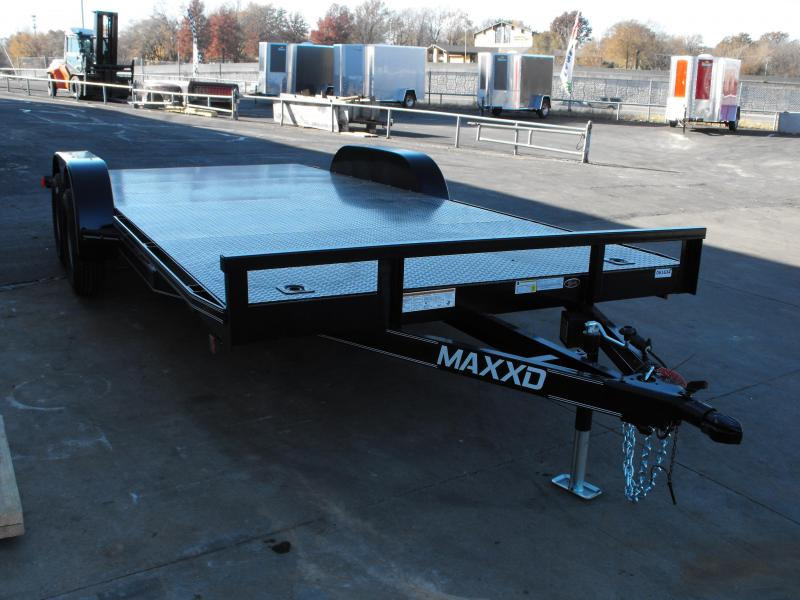 "Car Hauler 83"" X 16 Dove Metal Deck 7000 GVW  MAXXD Ramps"