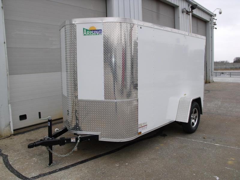 "Enclosed Trailer 5 X 10 Ramp 5' 6"" Interior Height Two Tone Color White"