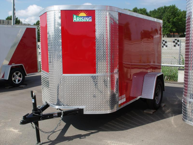 Enclosed Trailer  5 X 8 Ramp 5' Height Fits In The Garage ALL Tube Construction  Red In Color