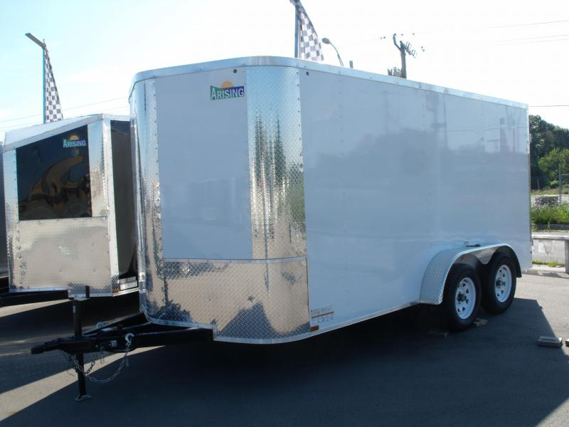 "Enclosed Trailer 7 X 14 BARN DOOR White In Color 7000 GVW 6' 6"" Height"