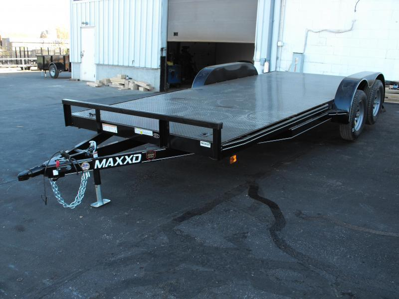 "Car Hauler 83"" X 18 Dove 7000 GVW  Metal Deck Ramps MAXXD"