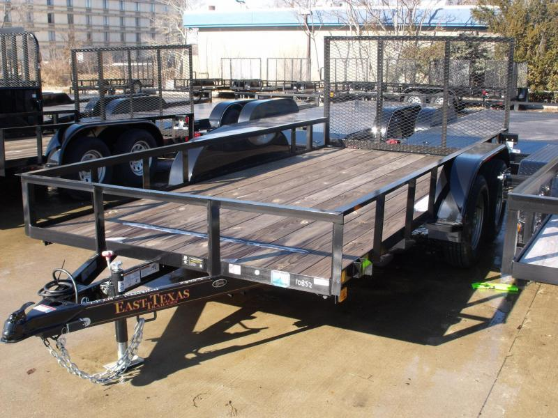 Landscape Trailer 77 X 14 With Tube Spring Assisted Gate 7000 GVW Brakes