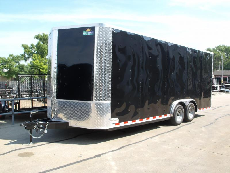 "Enclosed Trailer 8.5 X 20 RAMP DOOR BLACK In Color 10400  GVW    ((( 7'6""  Height  ))) Black In Color"