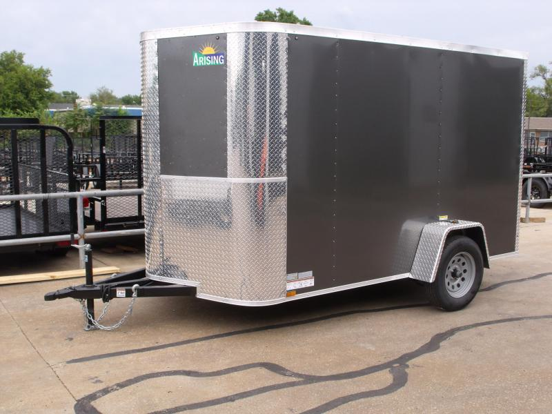 Enclosed Trailer 6 X 10 Ramp Charcoal In Color   All Tube Construction
