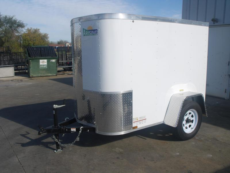 "LOOK AT THIS  Enclosed Trailer 4 X 6 Ramp 15"" Tires ALL Tube Construction"